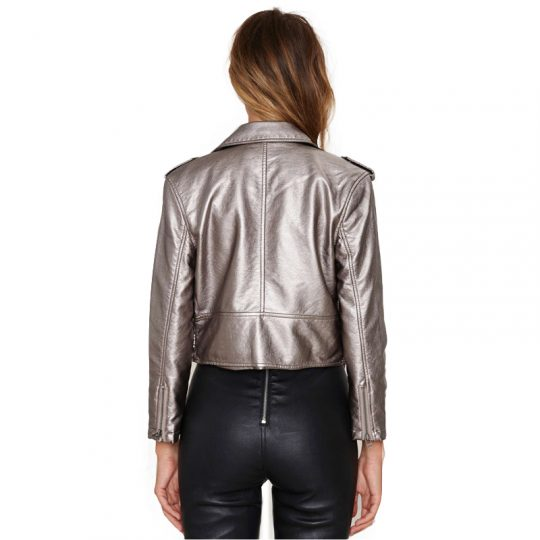 HDY Haoduoyi Belt Women Spring jacket Punk Style Short Faux Leather Coat Faux Leather Suede Jacket 3 1
